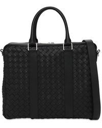 Bottega Veneta Hydrology Intreccio Leather Briefcase - Черный