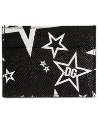 Dolce & Gabbana Star print cardholder - Schwarz