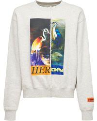 Heron Preston Split Herons ジャージースウェットシャツ - グレー