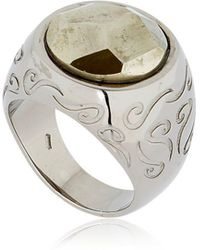 Marco Dal Maso - Ara Engraved Ring With Pyrite - Lyst