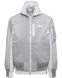 "Nike Mehrschichtige Bomberjacke ""sacai"" - Grau"