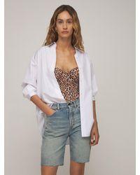 AG Jeans Oversize Cotton Poplin Shirt - White