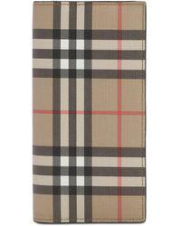 Burberry Brieftasche Mit Karos Und Zipper - Mehrfarbig