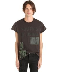 "MadeWorn T-shirt Aus Baumwolljersey ""politics As Usual"" - Schwarz"