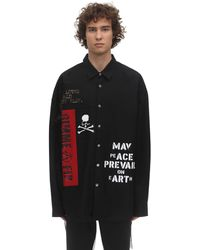 MASTERMIND WORLD Embroidered Cotton Shirt - Black