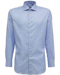 Brioni コットンツイルシャツ - ブルー