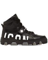 """DSquared² Sneakers Alte """"basket Icon"""" In Pelle - Nero"""