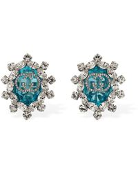 Gucci Gg Interlocking Crystal Clip-on Earrings - Mehrfarbig