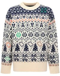 ADER error Sweater Aus Wollstrickjacquard - Mehrfarbig