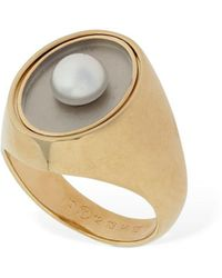 Maison Margiela Twisted Thick Ring W/ Imitation Pearl - Multicolour