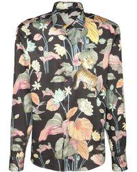 Etro Рубашка Из Хлопка С Принтом - Многоцветный