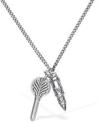 Emanuele Bicocchi Key & Bullet Charm Long Necklace - Metallic