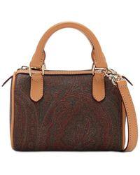 Etro Handtasche Aus Baumwolle Mit Paisleydruck - Braun
