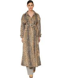 Jacquemus Trench-coat En Coton Mélangé À Imprimé Léopard Et À Ceinture Thika - Multicolore