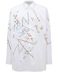 JW Anderson Oscar Wilde コットンポプリンシャツ - ホワイト