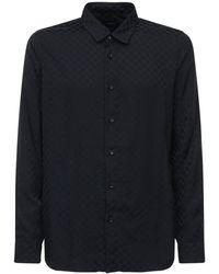 Amiri Camisa De Jacquard De Viscosa A Cuadros - Negro