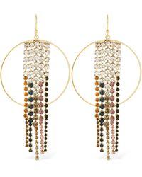 Rosantica Sublime Hoop Earrings W/ Crystals - Metallic