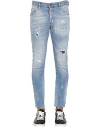 "DSquared² 16cm Jeans Aus Denim ""skater"" - Blau"