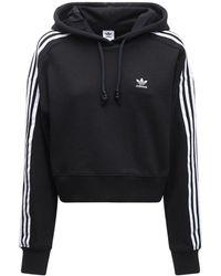 adidas Originals Sweat-shirt Court À Capuche Avec Logo - Noir