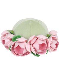 Francesco Ballestrazzi - Roses Applique' On Baseball Hat - Lyst