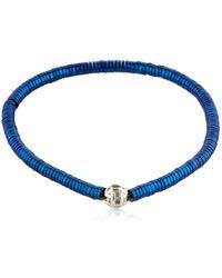 Luis Morais | Puzzle White Gold Beaded Bracelet | Lyst