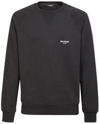 Balmain Sweatshirt Aus Baumwolle - Schwarz