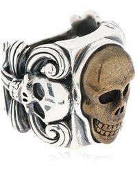 "Cantini Mc Firenze Ring ""liberty Vintage Skull"" - Mettallic"