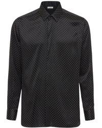 Saint Laurent Рубашка Из Шелка - Черный