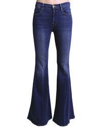 "FRAME Ausgestellte Jeans Aus Baumwolldenim ""le High"" - Blau"