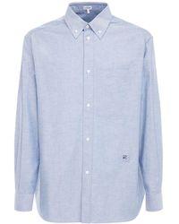 Loewe Oxford コットンボタンダウンシャツ - ブルー