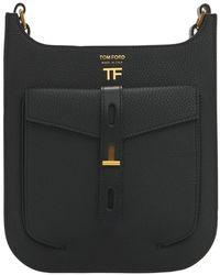 Tom Ford T Twist レザークロスボディバッグ - ブラック