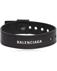 Balenciaga - Armband Aus Leder Mit Logo - Lyst