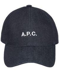 A.P.C. デニムキャップ - ブルー