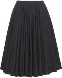Emilia Wickstead Lily Double Cotton Skirt - Black