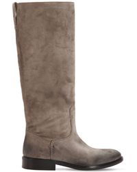 Strategia - 20mm Vintage Suede Tall Boots - Lyst