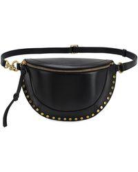 Isabel Marant Skano Leather Belt Bag - Black