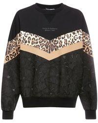 Dolce & Gabbana Leopard スウェットシャツ - ブラック