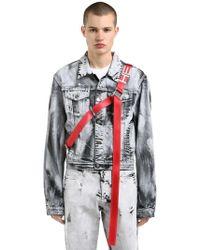 HELIOT EMIL - Black Ashes Hand-painted Denim Jacket - Lyst