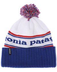 Patagonia Powder Town ビーニー帽 - ブルー