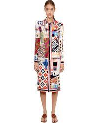 Tory Burch - Patchwork Print Silk Shirt Dress - Lyst