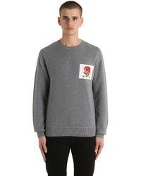 Kent & Curwen Rose Patch Wool Blend Sweater - Gray