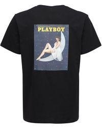 Soulland Playboy Monthly December コットンtシャツ - ブラック