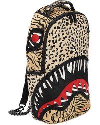 "Sprayground Rucksack Aus Ponyhaar ""safari Shark"" - Braun"