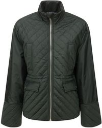Ganni Стеганая Куртка Из Переработанного Материала - Зеленый