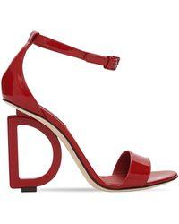 Dolce & Gabbana Босоножки Из Лакированной Кожи 105mm - Красный