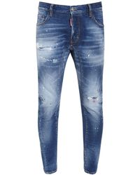 "DSquared² 17cm Jeans Aus Baumwolldenim ""tidy Biker"" - Blau"