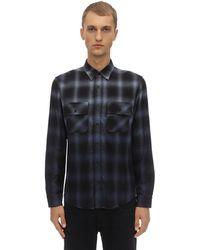 Amiri ウール シェードチェックシャツ - ブルー