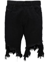 DIESEL コットンジャージーtシャツ - ブラック
