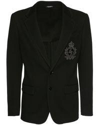 Dolce & Gabbana Пиджак С Вышивкой - Черный