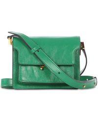Marni Сумка Из Кожи Mini Trunk - Зеленый